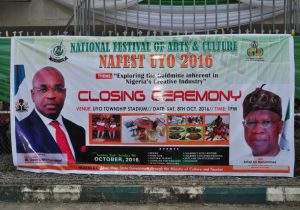 SYNOPSIS OF THE 29TH EDITION OF THE NATIONAL FESTIVAL OF ARTS AND CULTURE (NAFEST) 2016 HELD IN UYO, AKWA IBOM STATE FROM SUNDAY 2ND TO SUNDAY 9TH OCTOBER, 2016